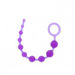 Анальные бусы Dream Toys, фиолетовые – фото