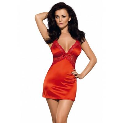 Сексуальна червона сорочка з мереживом L/XL - червоний – фото 1