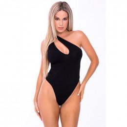 Боди сексуальное на одно плечо черное, размер S/M