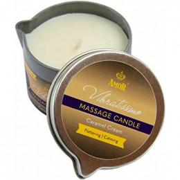 Массажная свеча Vibratissimo Caramel Cream низкотемпературная, 50 мл