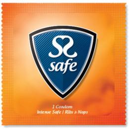 Презервативы Safe Intense Safe Condoms ребристые, 1 шт