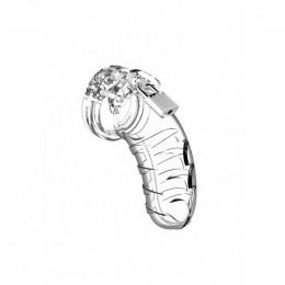 Мужской пояс верности Man Cage №4, 11.5 см, прозрачный