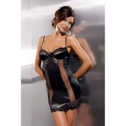 Сорочка сексуальная Alexia, черная, L/XL