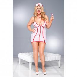 Костюм медсестры сексуальный, 3 предмета, размер Queen Size (46 - 52)