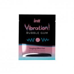 Жидкий вибратор для двоих Intt вкус Bubble gum, 5 мл (сашет) – фото