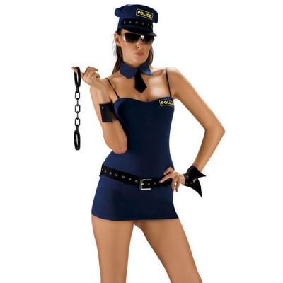 Костюм поліцейської Roxana для рольової гри - синій – фото 1