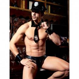 Эротический мужской костюм полицейского, 4 предмета, L/XL – фото