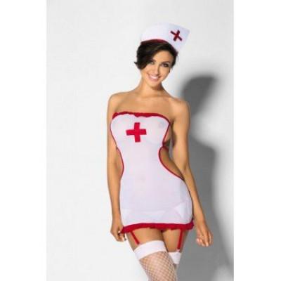Костюм медсестры ролевой 2 предмета, S - белый – фото 1