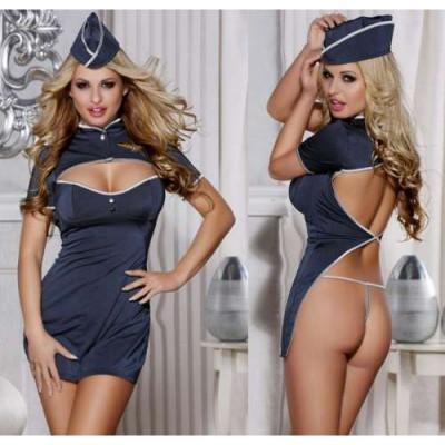 Костюм стюардессы - синий – фото 1