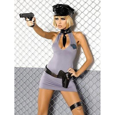 Костюм Плаття Поліцейської, S/M - сріблястий – фото 1