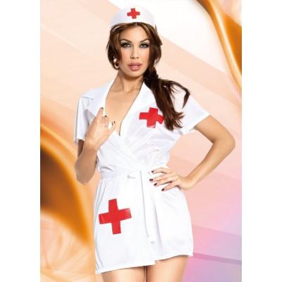Костюм еротичної медсестри, S/M - білий – фото 1