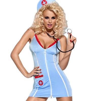 Комплект Плаття Доктор L/XL - блакитний – фото 1