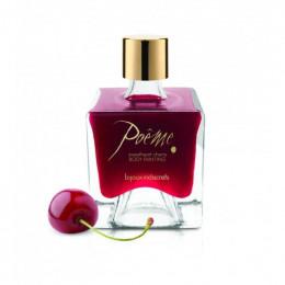 Їстівна фарба для тіла Poême (з пером) зі смаком вишні – фото