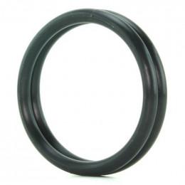 Двойное эрекционное кольцо черного цвета