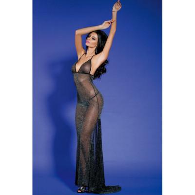 Платье полупрозрачное длинное Обворожительное O/S - черный – фото 1