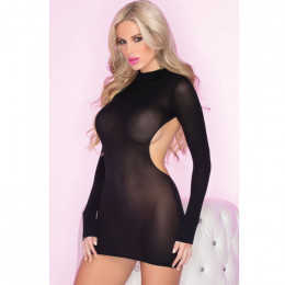 Платье эротическое с открытой спиной  S/M