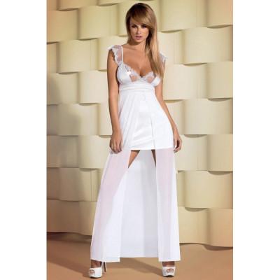 Платье эротическое атласное белое Feelia  L/XL - белый – фото 1