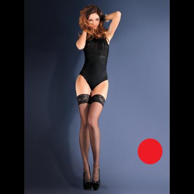 Панчохи червоний Gabriella Erotica Calze Classic 3/4 (24489) – фото 1