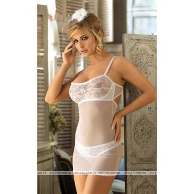 Сексуальная прозрачная белая сорочка L/XL - белый – фото 1
