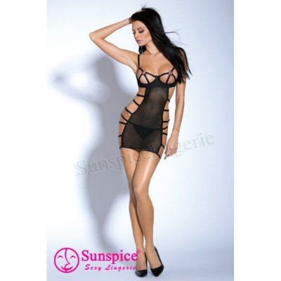 Платье  секси - черный – фото 1