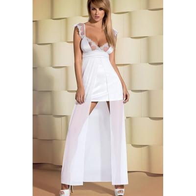 Платье атласное белое удлиненное сзадиFeelia Gown S/M - белый – фото 1