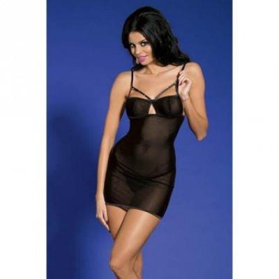 Плаття чорне сексі зі стразами O/S - чорний – фото 1