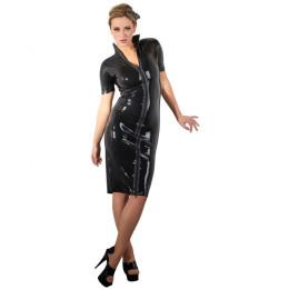 Латексне плаття LateX, чорне, розмір XL – фото
