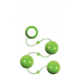 Анальні кульки Renegade Pleasure Balls зелені – фото