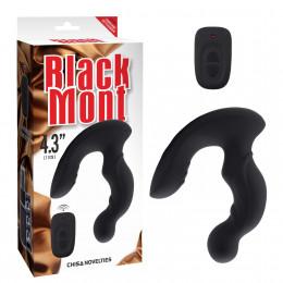 Масажер простати Black Mont силіконовий, чорний – фото