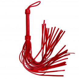 Флоггер (батіг) червоний силікон 75 см Голландія ручна робота – фото