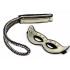 Набір: золоті наручники маска і батіг - золотий – фото 5