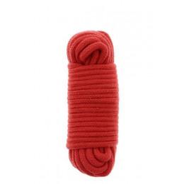 Мотузка для бондажа BondX бавовняна, 10 м, червона