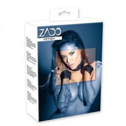 Ошейник с наручниками, натуральная кожа, ZADO – фото