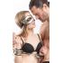 Набір: золоті наручники маска і батіг - золотий – фото 4