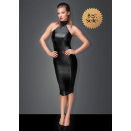 Сексуальне чорна сукня Пані з чокером на шию XXL – фото