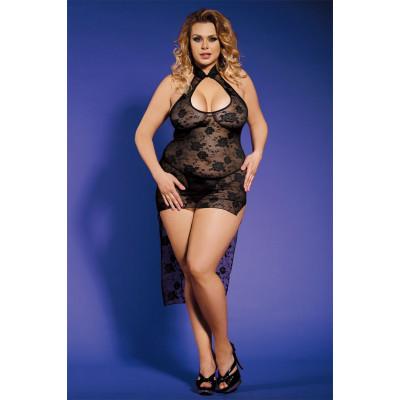 Мереживне плаття сексуальне L/XL (маломірний, на розмір L) - чорний – фото 1