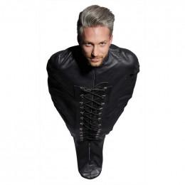 Гамівний мішок для БДСМ-ігор Leather Bondage з натуральної шкіри, чорний – фото