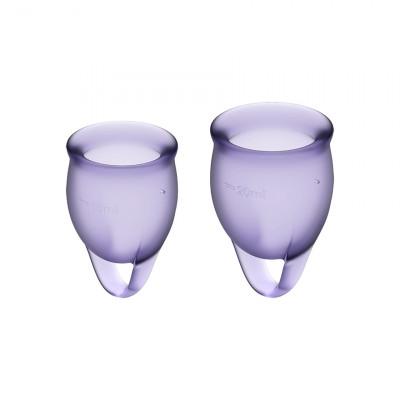 Набор менструальных чаш Satisfyer (Сатисфаер) Feel Confident (lila) - фиолетовый – фото 1