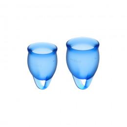 Набор менструальных чаш Satisfyer (Сатисфаер) Feel Confident (dark blue), 15мл и 20 мл – фото