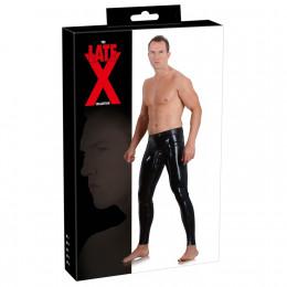 Мужские леггинсы из латекса с чехлом для члена, черные, размер 2XL – фото
