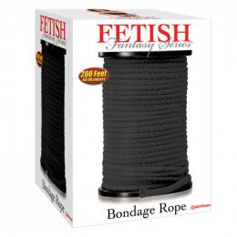 Веревка для шибари, черная, 60 метров – фото