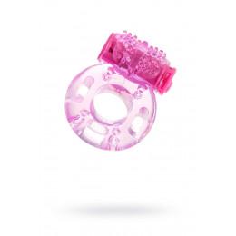 Эрекционное кольцо с вибрацией Erotist, розовое, 1.7 см – фото