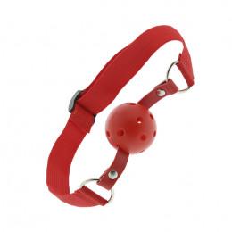 Кляп из пластика на регулируемом ремешке, красный BLAZE – фото