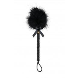 Пушок на длинной оплетенной ручке, черный – фото