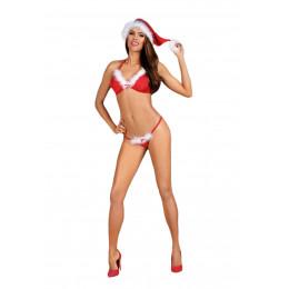 Комплект белья в новогоднем стиле, красный, S/M – фото