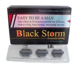 Таблетки для потенции Black Storm, 3 шт – фото