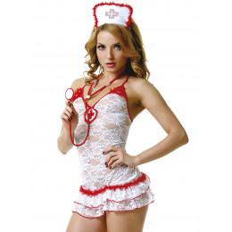 Костюм медсестры белый кружевной M/L – фото