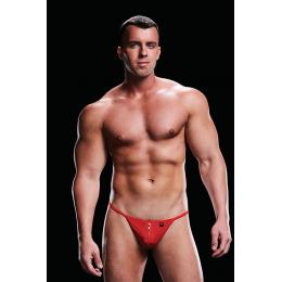 Мужские cтринги на молнии спереди LOW-RISE G-STRING RED, L/XL – фото