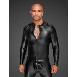 Куртка виниловая облегающая, на молнии Noir Handmade, размер S – фото