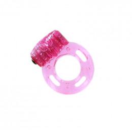Эрекционное кольцо розовое с вибро Pleasure Rings 1 шт – фото